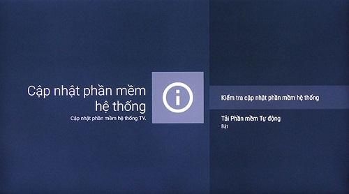 Hướng dẫn cách cập nhật phần mềm Sony Android TV