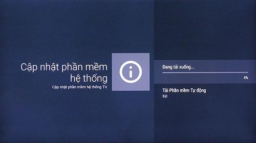 các bước cập nhật phần mềm Sony Android TV