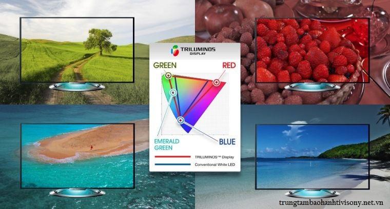 Công nghệ hình ảnh TRILUMINOS Display trên Smart tivi Sony