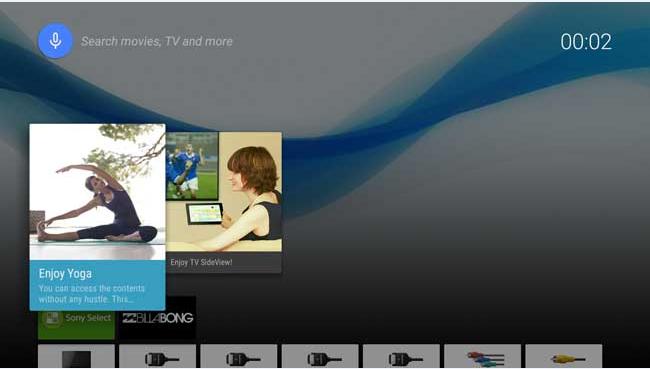 sử dụng chức năng tìm kiếm bằng giọng nói trên TV Sony