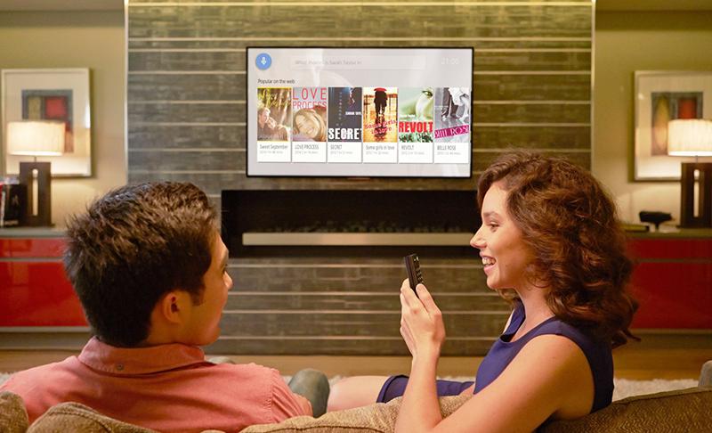 sử dụng chức năng tìm kiếm bằng giọng nói trên Android TV Sony