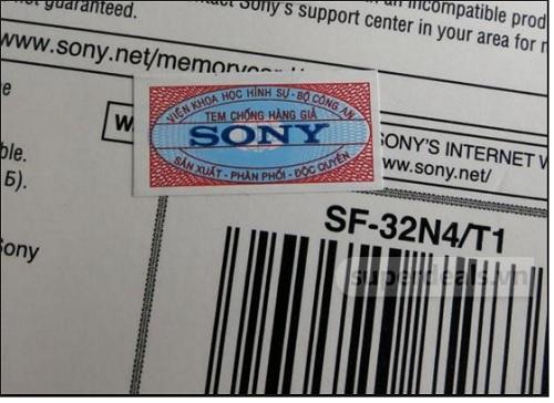nhận biết TV Sony chính hãng qua tem chống hàng giả