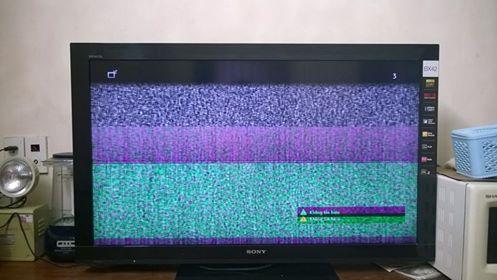 tivi Sony bị nhiễu
